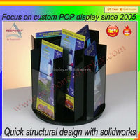 wooden and acrylic material table top Brochure Display Stand