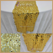 SNQ#32 factory wholesale gold sequin modern table runner