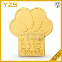 custom gold plating magnet flower shape lapel pin