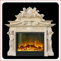 Italian free stand antique fireplace mantels wholesale