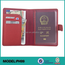 Factory OEM Custom RFID Blocking leather travel Passport Card Holder Wallet