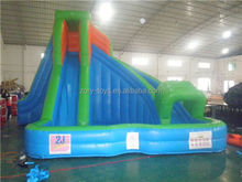 huayu water slide , ZY-WS957 red inflatable water slide