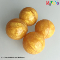 Mitoy China Factory EN71 1200pcs/lot 32mm Golden Rubber Super High Bouncing Ball