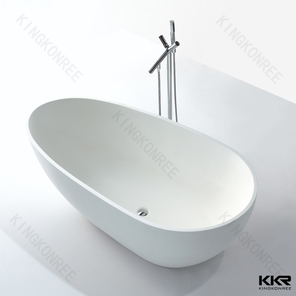 Kingkonree stone bath / floor stand bathtub / solid surface bathtub