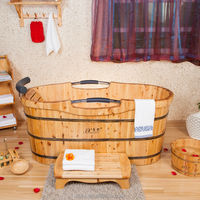 China wholesale market portable wooden bathtub,massage bathtub with high quality