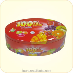 Size:240x152x78mm cookies tin box/ food container/biscuit tin box/beef offal sugar box/sugar metal box