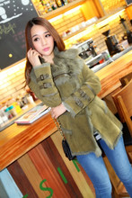Latest Women Winter Double Face Mongolia Lamb Fur Jacket Toscana Skins Shearing Coat