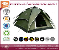 3 Person Double Layer Ripstop Polyester Family Camping Tent With Fiberglass Pole