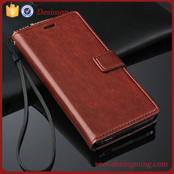 for xiaomi mi4 crazy horse leather cover case card slot wallet