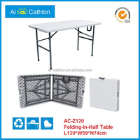 4ft plastic foldable table,small suitcase folding table