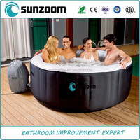 Round inflatable bathtub and portable bathtub for children