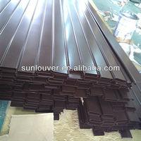 Extruded aluminium louvre blades /aluminum sun shades manufacturer