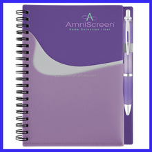 new design hot selling sprial notebook with color pages