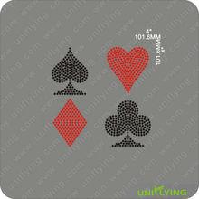 Poker card symbols rhinestone iron on transfer