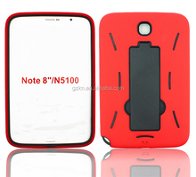 Heavy duty case for Samsung Galaxy Note 8.0 N5100 with kickstand