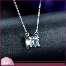 fashion charm 925 silver pendant chain with topaz nice charm