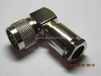 N type male right angle connector for RG213 cable