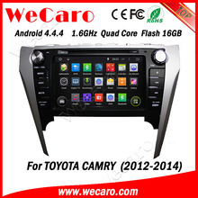 Wecaro WC-TC8016 Android 4.4.4 car dvd player quad core for toyota camry car radio tomtom stereo tv tuner 2012-2014