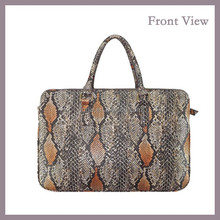 Hot Sale Fashion PU Tote Bag with Snake Skin Pattern