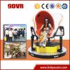 2015 Amusement field newest rvirtual reality simulator/rotating platform/9d egg virtual cinema with roller coaster game
