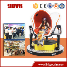 2015 Amusement field newest rvirtual reality simulator/rotating platform/9d egg virtual cinema with roller coaster game
