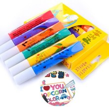 Hot selling popcorn pen bubble pen / diy painting pen