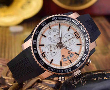 branded men watch hot style stainless steel chronograph quartz stop watch