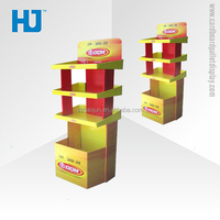 Customized design used bakery display cases for sale, cardboard furniture floor display stand