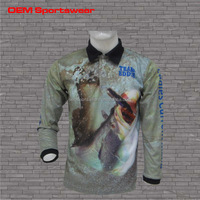 Custom polyester high quality fishing shirt wear