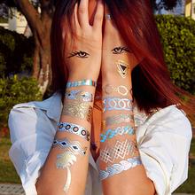 Metallic glitter body art fashion girls pens for temporary tattoos custom