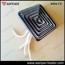 220v black flat far infrared ceramic heater