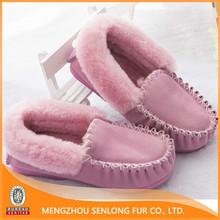 cheap wholesale real sheepskin shoes for women