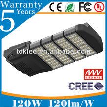 5 years warranty IP66 120W cree led street light