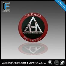 2015 custom car round emblem badges decorative acrylic emblem
