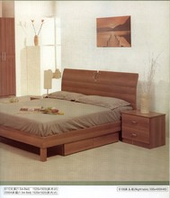 Walnut color classic contracted Chinese real wood bed