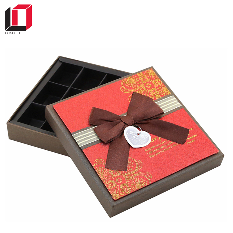 square shape chocolate box