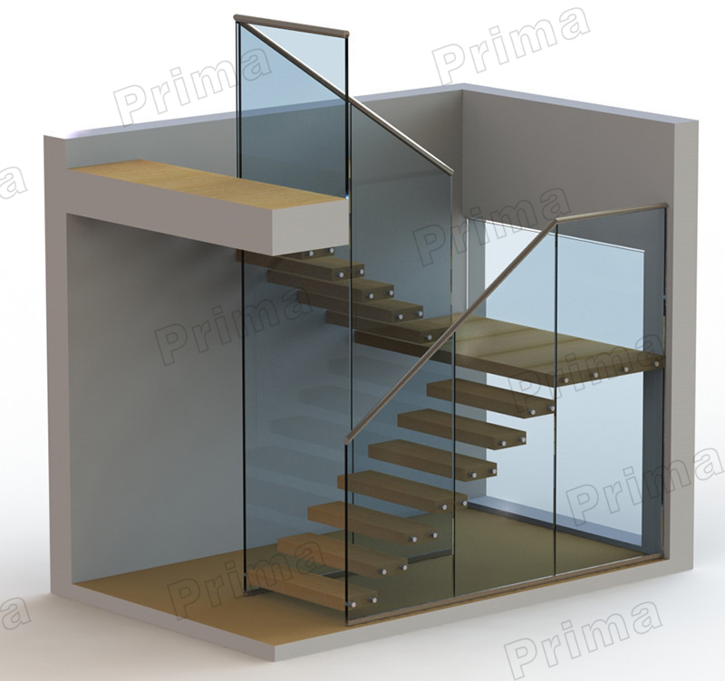 Interior Glass Railing Wood Stair Kit Cantilever Stairs Buy Kit Cantilever Stairs Glass