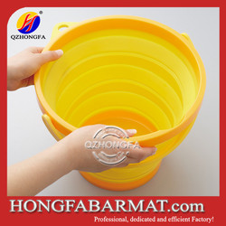 with handle colorful food grade silicone folding bucket