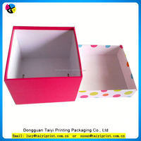 Customized printed promotion hard paper gift box for car store