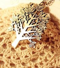 ladies fashion tree shape necklace