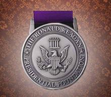 metal stamped eagle medal medallion, metal USA eagle medal with ribbon medallion