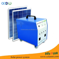 Solar power electricity generator with deep cycle battery