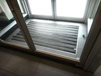 HOT SALE! Double stripes non-woven punched door Carpet