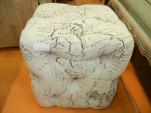 Round Upholstered Stool Ottoman Diamond Work Stools For Cheap