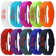 Cheap Led Silicone Watch /blinking silicone led watches