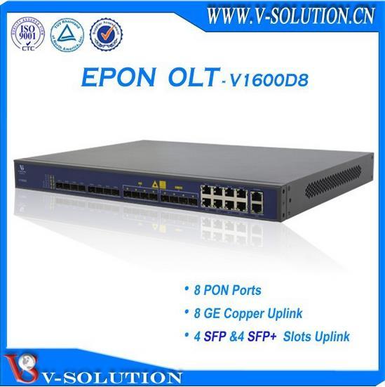 Mini 4PON GEPON OLT avec 4*1000 M Duplex Liaison Montante Interface Gestion Web Pris En Charge