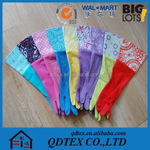 Colored cleaning latex household gloves
