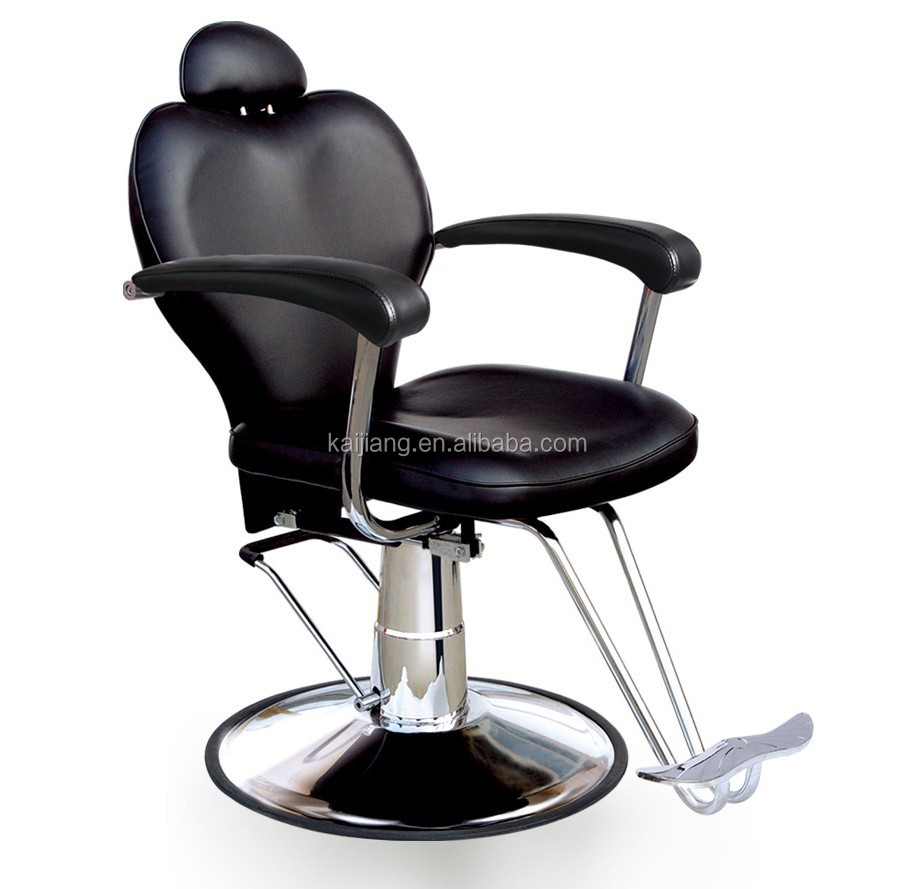 Reclining hair salon chair styling chair with headrest r02 for Salon styling chairs wholesale