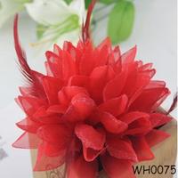 Hair Accessories Flower Elastic Bun Top for bride headdress