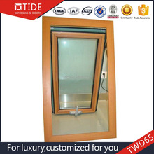 Aluminum storm window extrustion top hung window,aluminum wooden awning window